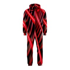 Abstract Of A Red Metal Chair Hooded Jumpsuit (Kids)