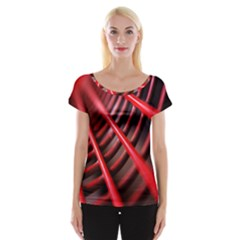 Abstract Of A Red Metal Chair Women s Cap Sleeve Top