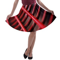 Abstract Of A Red Metal Chair A Line Skater Skirt