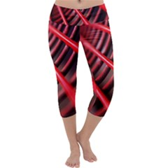 Abstract Of A Red Metal Chair Capri Yoga Leggings