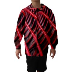 Abstract Of A Red Metal Chair Hooded Wind Breaker (Kids)