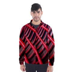 Abstract Of A Red Metal Chair Wind Breaker (men)