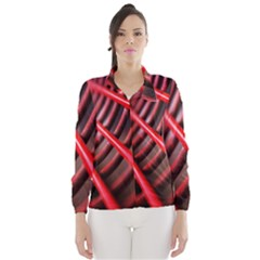 Abstract Of A Red Metal Chair Wind Breaker (Women)