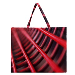 Abstract Of A Red Metal Chair Zipper Large Tote Bag