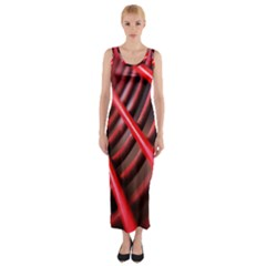 Abstract Of A Red Metal Chair Fitted Maxi Dress