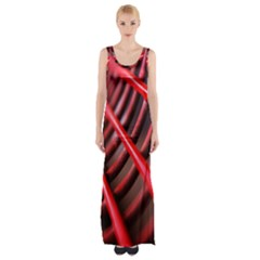 Abstract Of A Red Metal Chair Maxi Thigh Split Dress