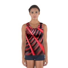 Abstract Of A Red Metal Chair Women s Sport Tank Top
