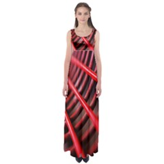 Abstract Of A Red Metal Chair Empire Waist Maxi Dress
