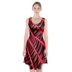 Abstract Of A Red Metal Chair Racerback Midi Dress