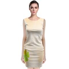 Leaf Polka Dot Green Flower Star Sleeveless Velvet Midi Dress