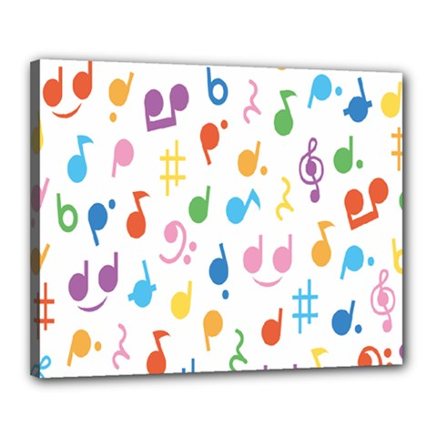 Musical Notes Canvas 20  x 16