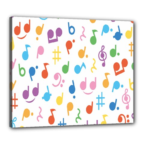 Musical Notes Canvas 24  x 20