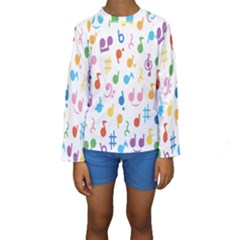 Musical Notes Kids  Long Sleeve Swimwear