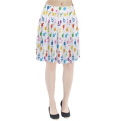Musical Notes Pleated Skirt