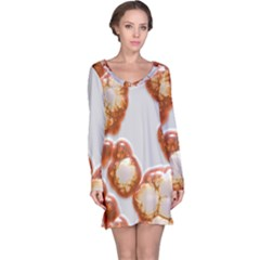 Abstract Texture A Completely Seamless Tile Able Background Design Long Sleeve Nightdress