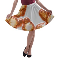 Abstract Texture A Completely Seamless Tile Able Background Design A-line Skater Skirt