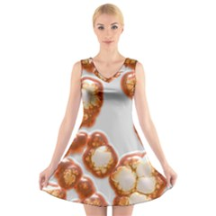 Abstract Texture A Completely Seamless Tile Able Background Design V Neck Sleeveless Skater Dress