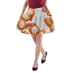 Abstract Texture A Completely Seamless Tile Able Background Design A-Line Pocket Skirt