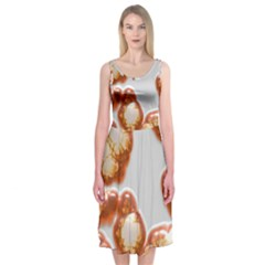 Abstract Texture A Completely Seamless Tile Able Background Design Midi Sleeveless Dress