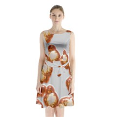 Abstract Texture A Completely Seamless Tile Able Background Design Sleeveless Chiffon Waist Tie Dress