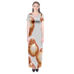 Abstract Texture A Completely Seamless Tile Able Background Design Short Sleeve Maxi Dress