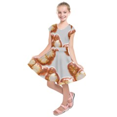 Abstract Texture A Completely Seamless Tile Able Background Design Kids  Short Sleeve Dress