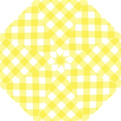 Plaid Chevron Yellow White Wave Straight Umbrellas