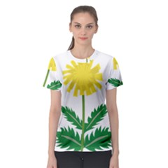 Sunflower Floral Flower Yellow Green Women s Sport Mesh Tee
