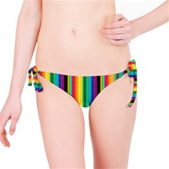 Multi Colored Colorful Bright Stripes Wallpaper Pattern Background Bikini Bottom