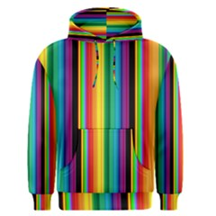 Multi Colored Colorful Bright Stripes Wallpaper Pattern Background Men s Pullover Hoodie