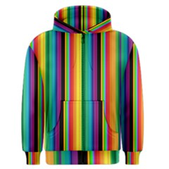 Multi Colored Colorful Bright Stripes Wallpaper Pattern Background Men s Zipper Hoodie