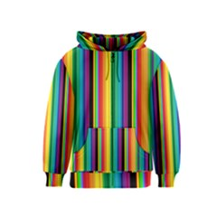 Multi Colored Colorful Bright Stripes Wallpaper Pattern Background Kids  Zipper Hoodie