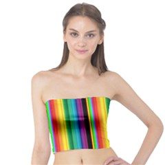 Multi Colored Colorful Bright Stripes Wallpaper Pattern Background Tube Top