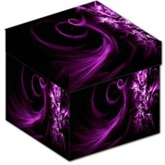 Purple Flower Floral Storage Stool 12