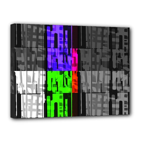 Repeated Tapestry Pattern Canvas 16  X 12