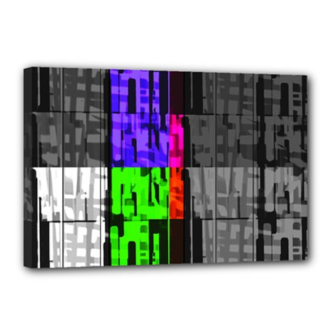 Repeated Tapestry Pattern Canvas 18  X 12