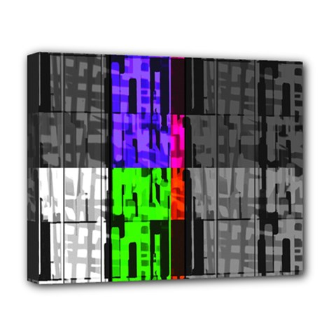 Repeated Tapestry Pattern Deluxe Canvas 20  x 16