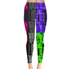 Repeated Tapestry Pattern Leggings