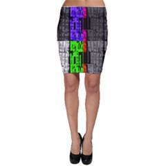 Repeated Tapestry Pattern Bodycon Skirt