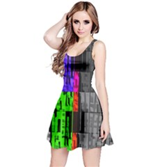 Repeated Tapestry Pattern Reversible Sleeveless Dress
