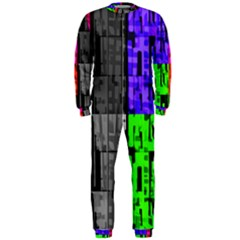 Repeated Tapestry Pattern OnePiece Jumpsuit (Men)