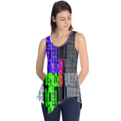 Repeated Tapestry Pattern Sleeveless Tunic