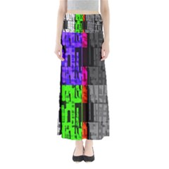 Repeated Tapestry Pattern Maxi Skirts