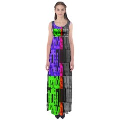Repeated Tapestry Pattern Empire Waist Maxi Dress