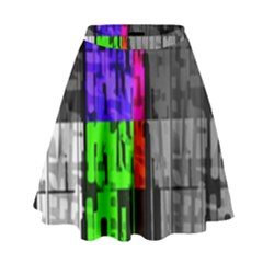 Repeated Tapestry Pattern High Waist Skirt