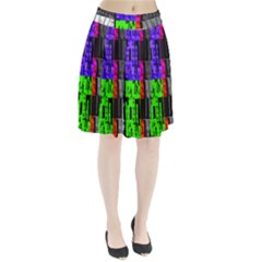 Repeated Tapestry Pattern Pleated Skirt