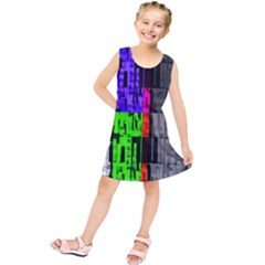 Repeated Tapestry Pattern Kids  Tunic Dress