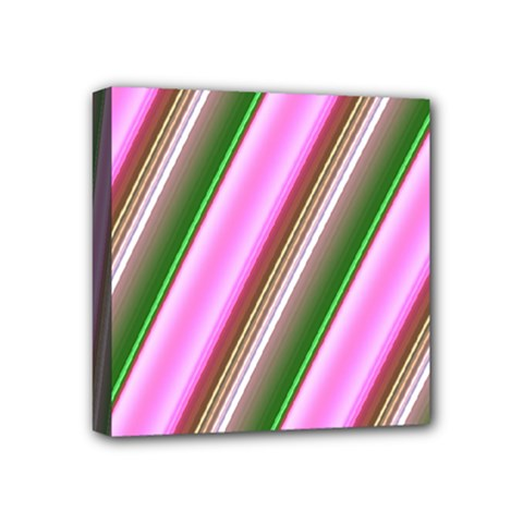 Pink And Green Abstract Pattern Background Mini Canvas 4  x 4