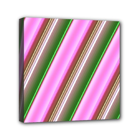 Pink And Green Abstract Pattern Background Mini Canvas 6  x 6