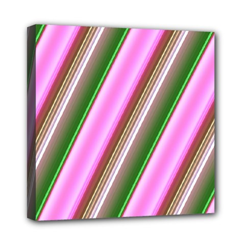Pink And Green Abstract Pattern Background Mini Canvas 8  x 8